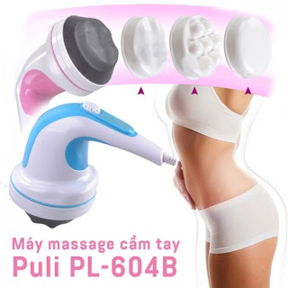 Máy massage bụng cầm tay4 đầu Puli PL-604B – Cơ chính hãng giá rẻ